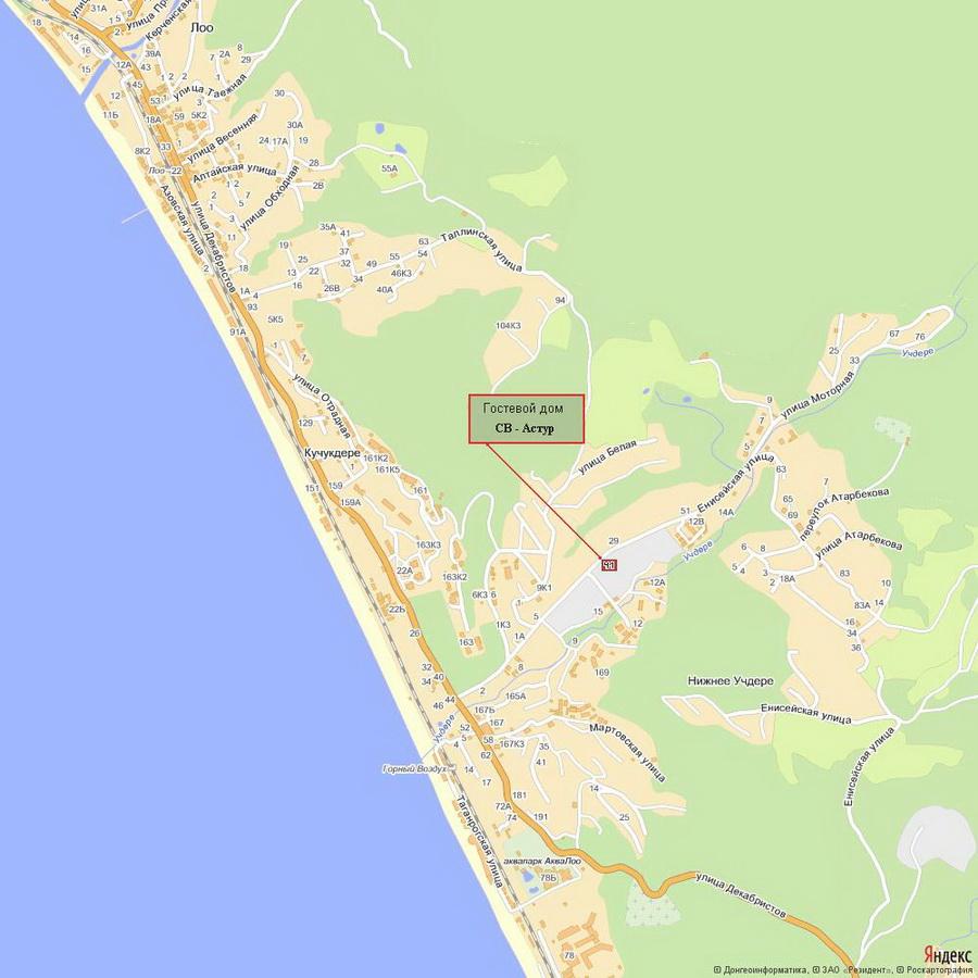 лоо побережье фото и карта видов