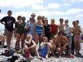 Группа Знаменитой Тридцатки на пляже в Дагомысе