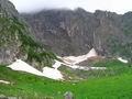 Но дальнем фоне Нивальная зона - зона голых скал, вечных льдов и снегов