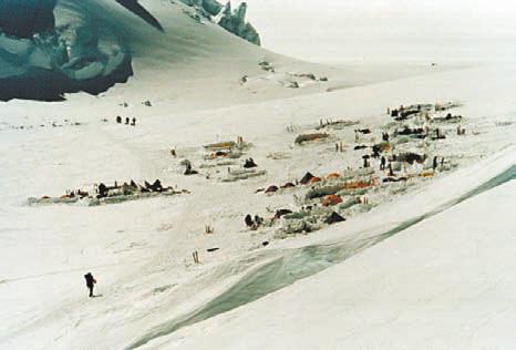 Гора Мак-Кинли Аляска, Базовый лагерь (2200 м)