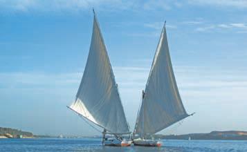 Египет. Фелюки на Ниле (Египет)