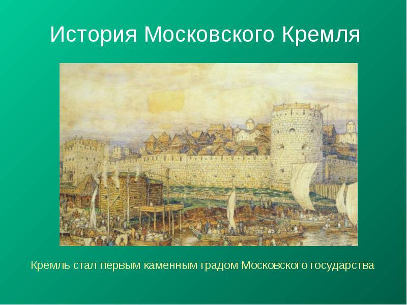 История строительства московского кремля реферат 6471