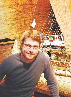 Улав Хейердал – внук легендарного Тура – член экспедиции 2006 г. на «Тангароа»
