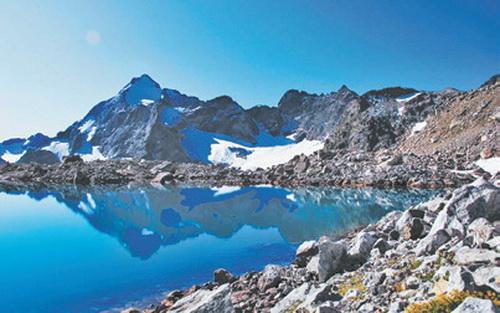 Кавказ, Пик МИФИ отражается в Верхнем Рынджинском озере