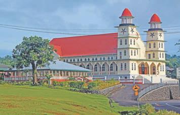 Самоа. Протестантская церковь на острове Савайи (Самоа)