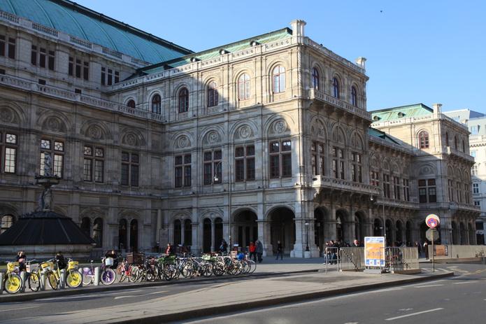 Вена, велосипеды на улицах Вены - фото города от СВ-Астур