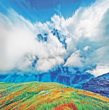 Алтай. Просто фантастический вид на вершину Ярлу.
