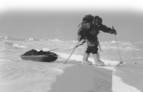 Путешествие на Северный полюс на лыжах