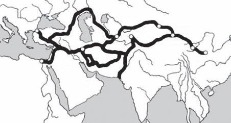 Великий Шелковый путь - схема