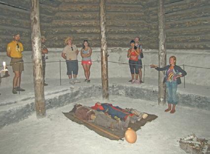 Урал. Аркаим. Внутри погребального кургана