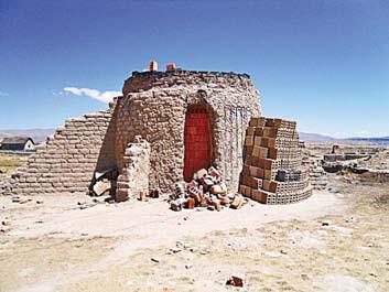 Печь для обжига кирпича в Боливии
