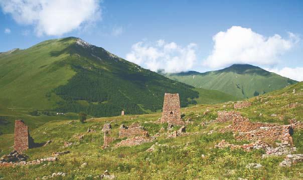 Южная Осетия, древнее поселение в верховьях р. Ерманедон