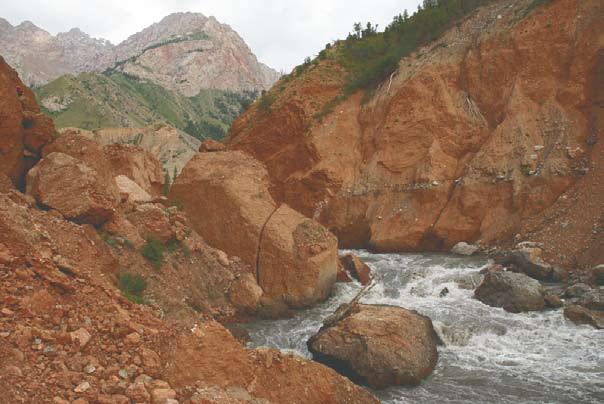 Порог на горной реке