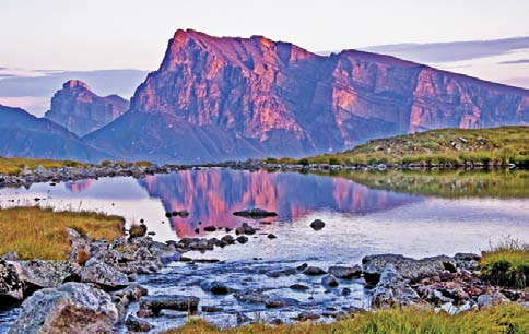 Вершины Хазнибаши и Мехтыген на закате