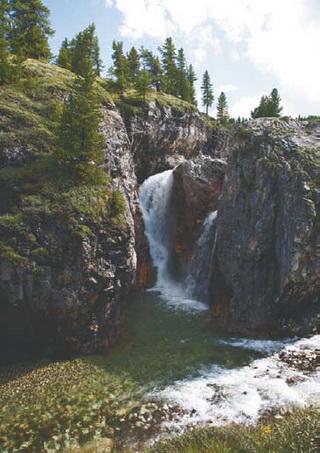 Водопады на реке Урда-Шан