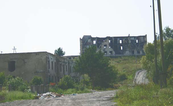 Республика Южная Осетия, В здании на пригорке дислоцировались российские миротворцы