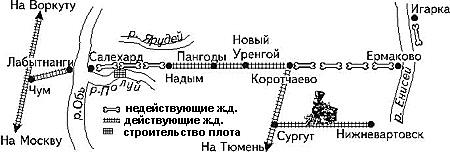 Схема строек ГУЛАГа