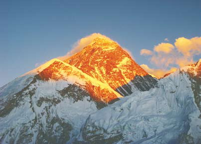 Непал, Эверест на закате