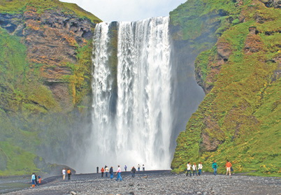 Исландия. Водопад Скогафосс