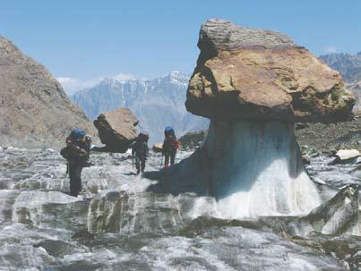 Памир, Ледовый «гриб» на леднике Федченко