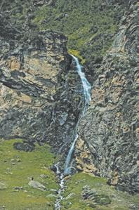 Кавказ, Водопад в долине реки Нахар
