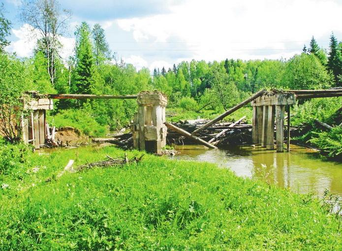 Исток реки Кама, почти у истока