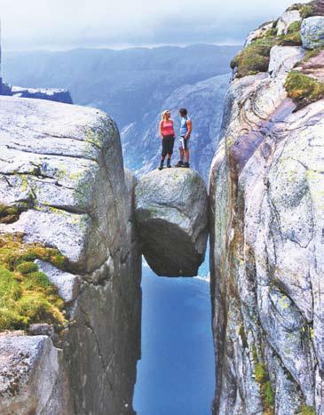 Норвегия,  фото Норвегии. Скала Кьераг В.Лукин против регистрации байдарок на Люсе-фьорде около г. Ставангере. Фото Terje Rakke (Норвегия)