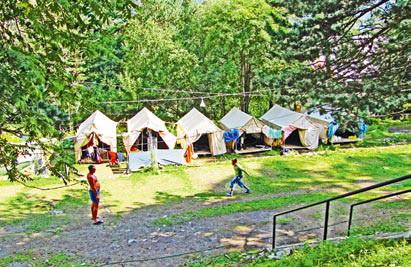 Кавказ.Палаточный лагерь.
