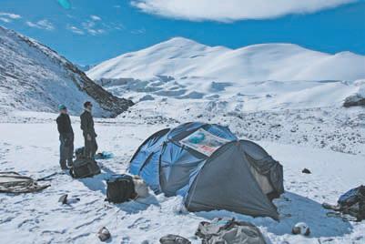 Штурмовой лагерь на высоте 5500 м