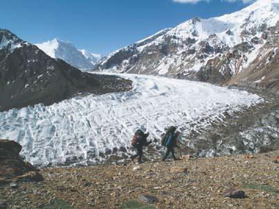Памир, Впереди ледник Грумм-Гржимайло