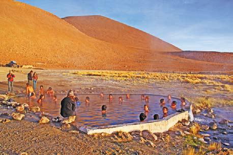 Боливия. Горячие источники около озера Уюни