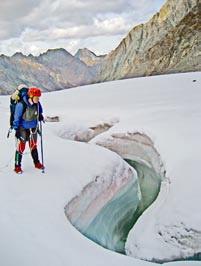 Хребет Черского. Ледник Обручева