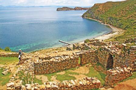 Боливия. Руины города инков на берегу озера Титикака