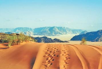 Иордания. Бархан в пустыне Вади Рум (Иордания)