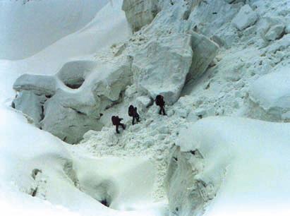 Горы Китая. В ледопаде под перевалом Каракорум