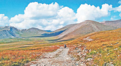 Плато Укок - Алтай. Пейзаж плато Укок на Алтае