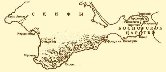 Греки в Крыму - карта греческих городов