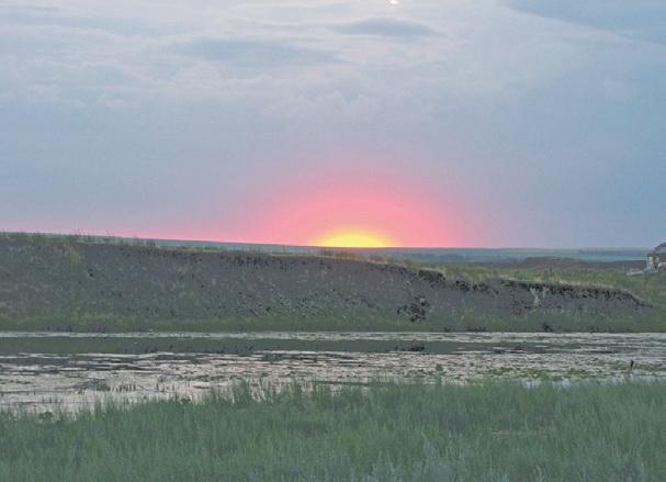 Урал - Южный Урал. Закат на Аркаиме