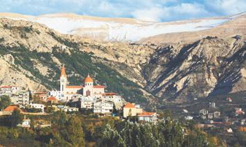 Ливан.Город Бишари в долине Кадиша (Ливан)