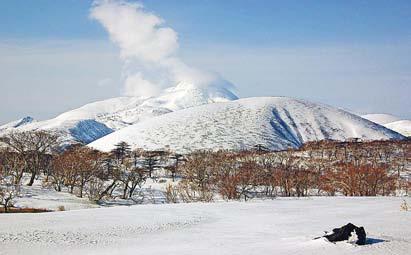 Курилы. Вулкан Тебенькова и гора Купол